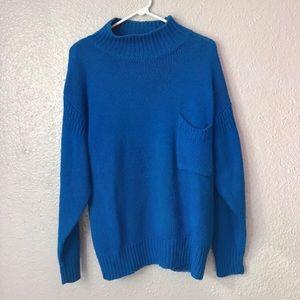 Victoria Jones Mock Neck Pocket Sweater